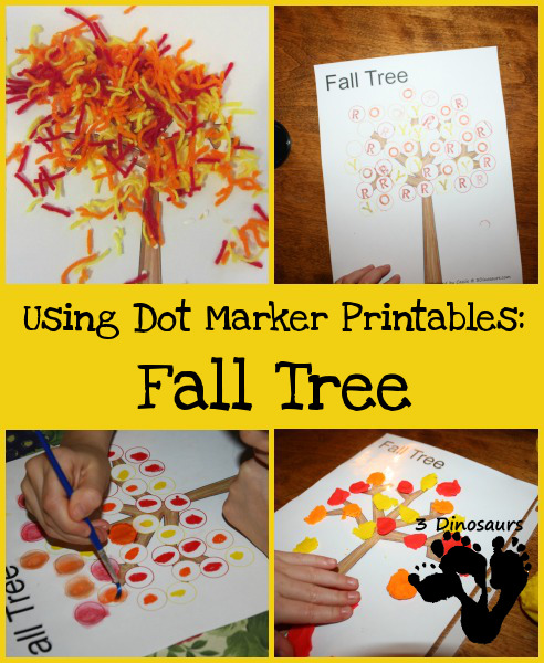 Using Dot Marker Printables: Fall Tree