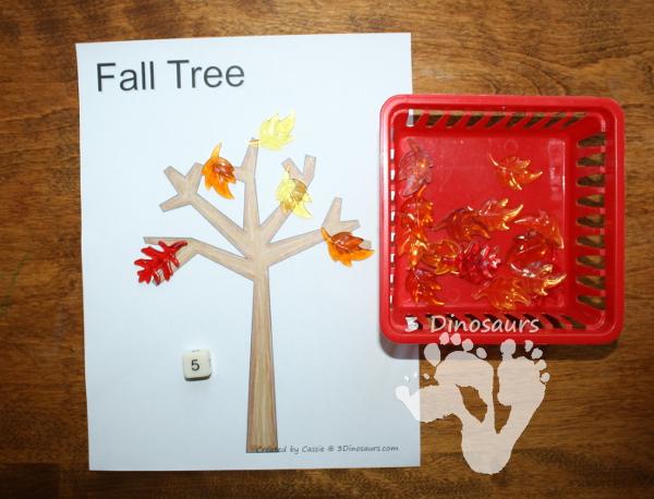 Using Dot Marker Printables: Fall Tree - 3Dinosaurs.com