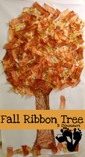 Fall Ribbon Tree Craft