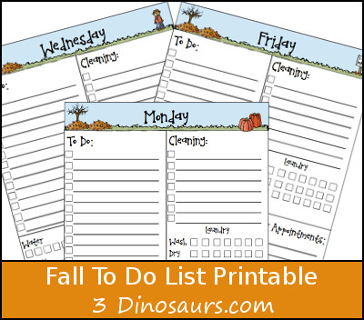 Free Fall Themed To Do List Printable