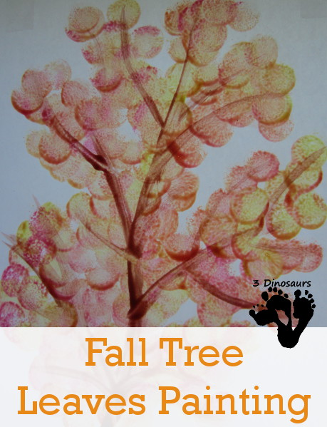 Fall Tree Leaves Painting - 3Dinosaurs.com