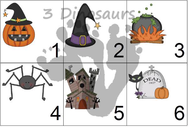 Free 2014 Halloween Calendar Set - 3Dinosaurs.com