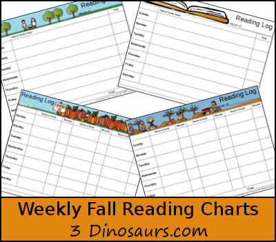 Free Weekly Fall Reading Charts