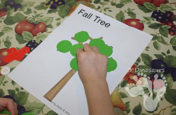 Button Apple Tree Craft  - 3Dinosaurs.com