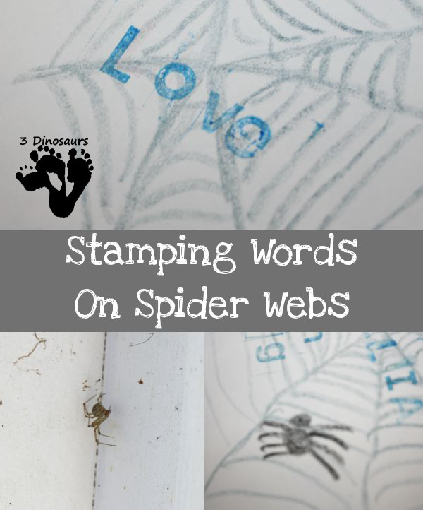 Stamping Words on Spider Webs - 3Dinosaurs.com