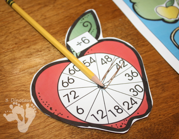 Apple Themed Multiplication and Division with no prep and hands on activities $ - 3Dinosaurs.com