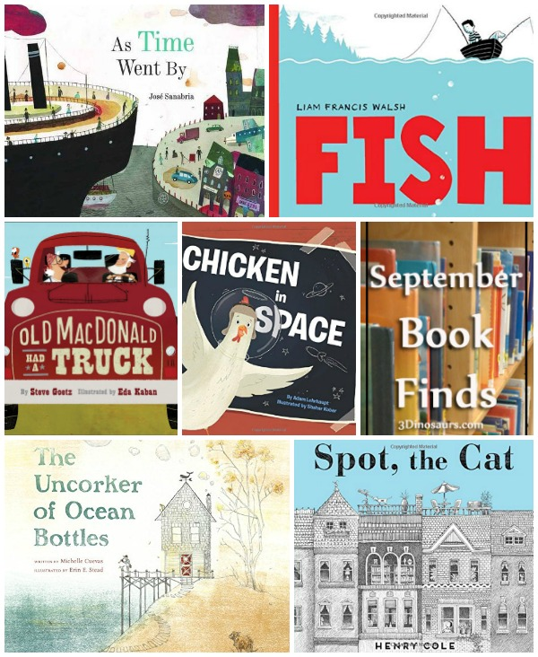 September 2016 Book Finds: farm, ocean, wordless books, cats, space, boats - 3Dinosaurs.com