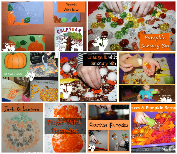 45+ Pumpkin Activities & Printables - loads of printables for themed packs, math, learning to read, abcs and more  - 3Dinosaurs.com