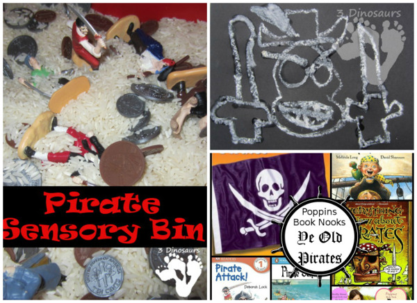 15+ Pirate Printables & Activities - to use for a pirate theme of Talk Like a Pirate Day - 3Dinosaurs.com