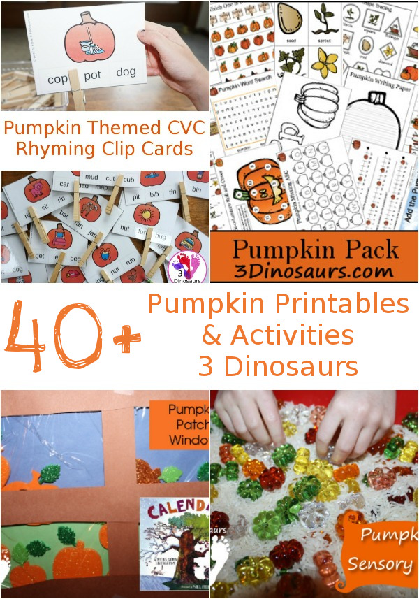 Pumpkin Printable & Activities