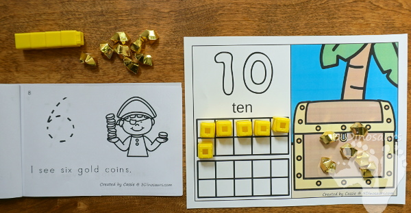 Free Pirate Coin Counting Easy Reader Book - a fun way to count from 0 to 10  with pirate and coins - 3Dinosaurs.com