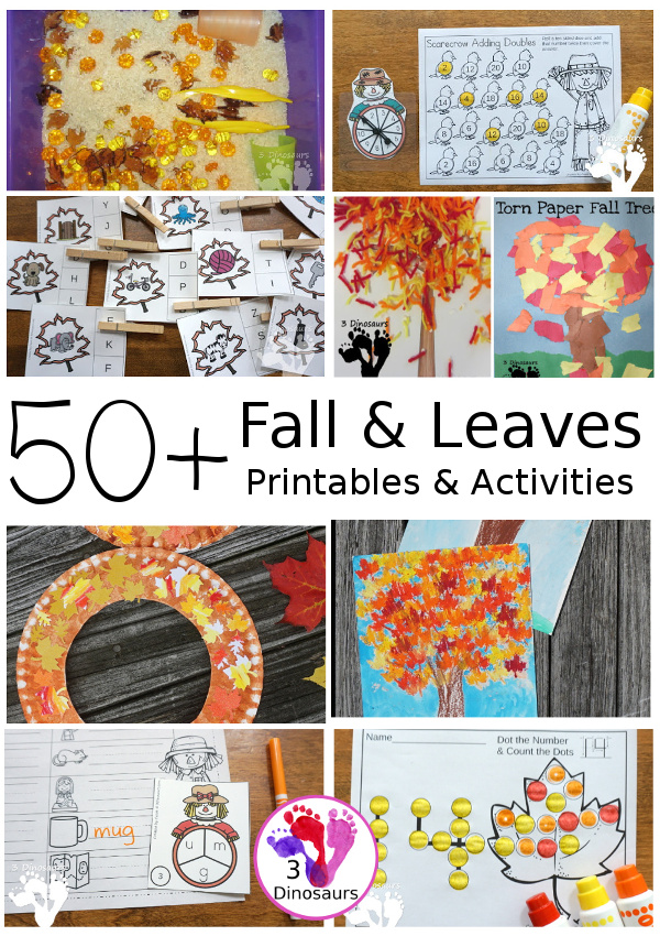 Fall & Leaves Activities & Printables - 3Dinosaurs.com