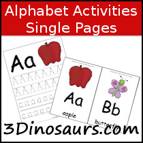 Single Page ABC Activities