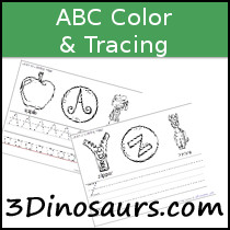 ABC Color & Tracing Printable