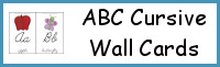 ABC Cursive Wall Cards