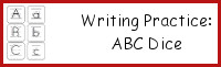 Writing Practice: ABC Dice