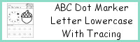 ABC Dot Marker Lowercase with Tracing