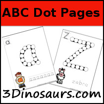 ABC Dot Marker Upper & Lower Case - 3Dinosaurs.com