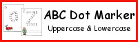 ABC Dot Marker Uppercase & Lowercase Pages