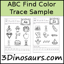 ABC Find, Color & Trace Sample