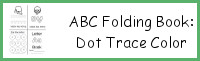 ABC Folding Book: Dot Trace & Color
