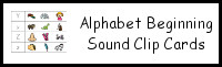 Alphabet Beginning Sound Clip Cards