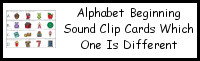 Alphabet Beginning Sound Which is Different Clip Cards