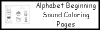 Alphabet Beginning Sound Coloring Pages