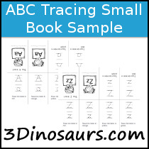 ABC Tracing Small Book Sample