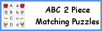 ABC 2 Piece Matching Puzzles