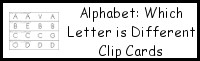 Alphabet Which Letter is Different Clip Cards