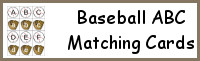 Baseball ABC Matching Cards