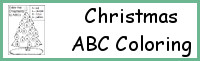Christmas Tree ABC Coloring