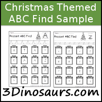 Christmas ABC Find Sample