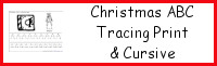 Christmas ABC Tracing Print & Cursive