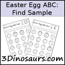 Easter Egg ABC Find Sample