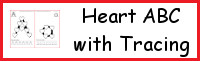 Heart ABC Letters With Tracing