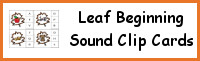 Leaf Beginning Sound Clip Cards