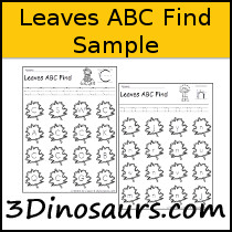 Leaves ABC Find Sample