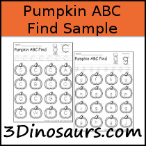 Pumpkin ABC Find Sample