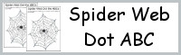 Spider Web Dot ABC: Print & Cursive