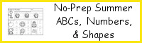 No-Prep Summer ABCs, Numbers & Shapes