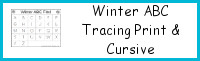 Winter ABC Tracing Print & Cursive