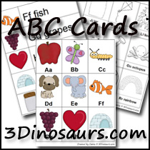 Printables Abc Chart Download lots of new abc printables 3 dinosaurs pocket cart cards single page chart big color and black white are also available