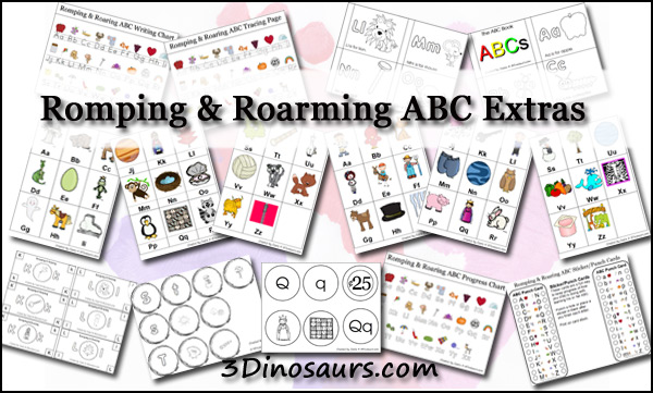 Romping & Roaring ABC Pack Extras