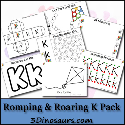 preschool alphabet activities, letter k printables