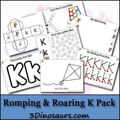 preschool alphabet activities, letter k printables