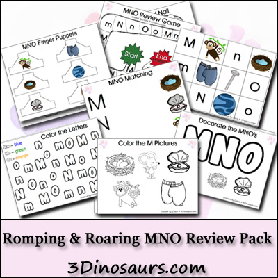 3 Dinosaurs - Romping & Roaring MNO Review Pack