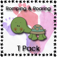 Romping & Roaring T Pack - 3Dinosaurs.com