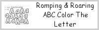 Romping & Roaring ABC Color the Letter